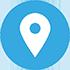 Logo localisation bleu