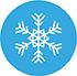logo flocon blanc sur fond bleu