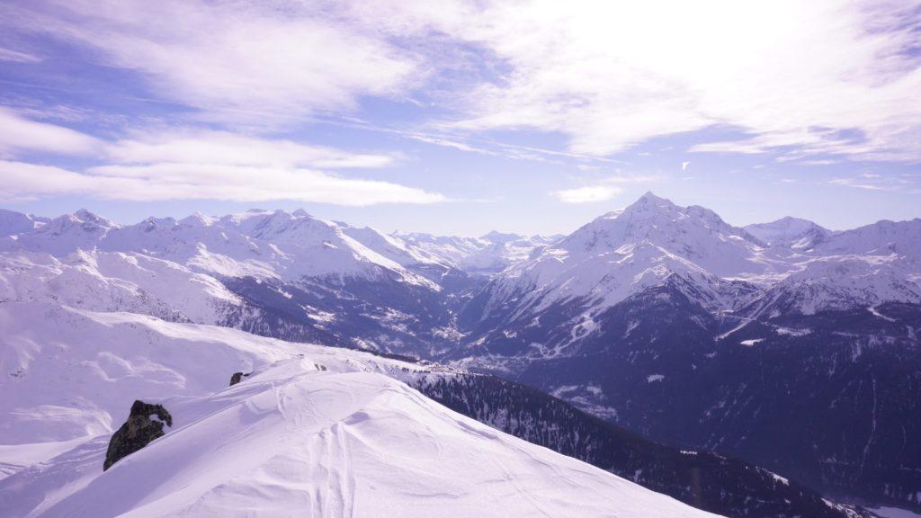 Vue panoramique depuis Le Clapet de La Rosière Val d'Isère et Les Arcs