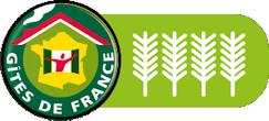 Logo Gîte de France 4 épis